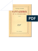 Walder Francis - Saint Germaine O La Negociacion