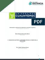 1.1 Análisis de Lectura La Epistemología en La Ciencia de La Educación. Benavides Alejandra