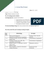 e-lesson plan Electricity