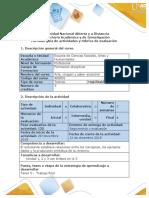 Guía de actividades y rúbrica de evaluación - Tarea 5- Trabajo final