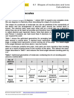 6.1 Calculation sheet Shapes of molecules (1)