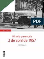 Historia y Memoria. 2 de Abril de 1957 -Pedro Milos