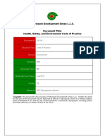 CP-122 Health, Safety, And Environment Code of Practice