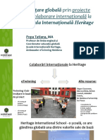 Colaborare Internationala La Heritage