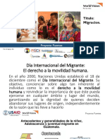 Día Internacional de La Migración