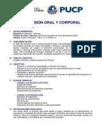 Syllabus Expresion Oral y Corporal Noviembre 2019