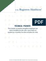 TÉCNICA PUENTE. La Casa de Los Registros Akáshicos, De Susana M. Franz. Todos Los Derechos Reservados.