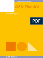 (IOP concise physics) Liengme, Bernard V - Excel VBA for physicists a primer-IOP Publishing (2016).pdf