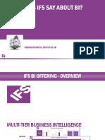 IFS BI What Does IFS Say About BI