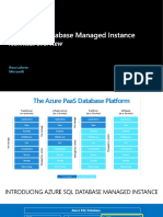 Azure SQL Database Managed Instance Technical Overview