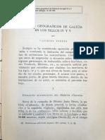 Casimiro Torres. Límites geográficos de Galicia en los siglos IV y V