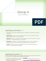 group 4 learning outcomes ppt