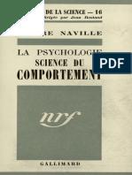 La psychologie science du comportement