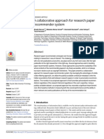 A Collaborative Approach for Research Paper Recommender System