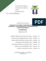 SANIDAD DE LOS ALIMENTOS CONSUMIDOS DE EXPENDIOS AUTORIZADOS Y NO AUTORIZADOS EN  LA UNIVERSIDAD DE SAN CARLOS DE GUATEMALA