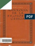 Gaos, José - Antología de la filosofía griega.pdf