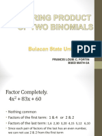Factoring Product of Two Binomials - Louie.ppt
