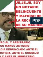 Nueva Denuncia Contra El Notario Delincuente Marco Antonio Corcuera Garcia