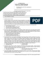 Latihan Soal PAS PPKN Kelas 7 2019 2020