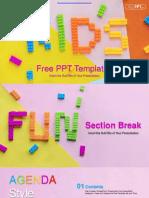 Kids Alphabet Blocks PowerPoint Templates