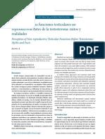 Percepción de Las Funciones Testiculares No Reproductivas