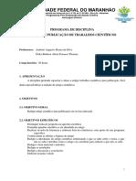 Programa Disciplina Redação e Publicação de Trabalhos Científicos