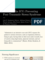 ebp - post-traumatic stress syndrome prevention