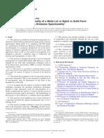 E826 − 14 Prueba de homogeneidad de un lote o lote de metal en forma sólida.pdf