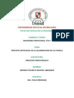 PROCESO DE LA ELABORACION DE LA PANELA DE FORMA ARTESANAL