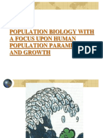 Population Biology Focussing upon Human Population Dynamics