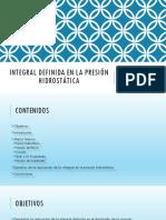 Integral Definida en La Presión Hidrostática