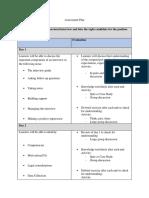 formative assessment plan