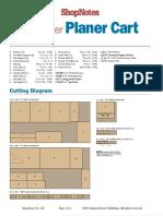 Cutting Diagram Planer Cart