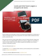 Banco de Venezuela Permite Hacer Pagos a Través de La Mensajería de Texto - Descifrado
