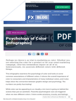 Psychology of Color _ Info Graphic _ Visual Meaning