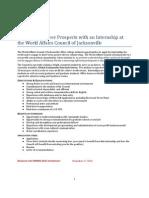 World Affairs Council Internship Info App Spring 2011