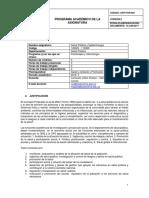 Programa Salud Pública y Epidemiología  2019 II