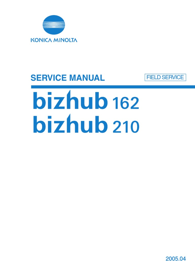 Konica-Minolta Bizhub 162-210 Service Manual | Ac Power Plugs And Sockets |  Electrical Connector