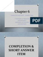 COMPLETION & SHORT ANSWER ITEM.pptx