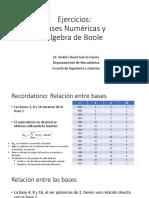Ejercicios Algebra Boleana