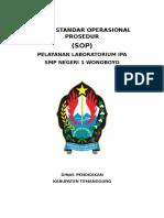 Draft SOP Pelayanan Laboratorium