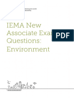 IEMA New Associate Exam Practice Questions (Environment)