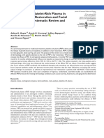 The Efficacy of Platelet-Rich Plasma in the Field of Hair Restoration and Facial Aesthetics a Systematic Review and Metaanalysis
