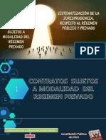 sistematizacion de la jurisprudencia y contratos sujeos a modalidad.pptx