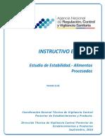 Instructivo Externo Estudio de Estabilidad
