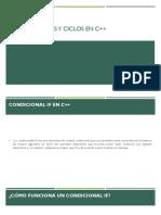 Condicionales y ciclos C++