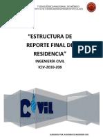 Iciv-estructura de Reporte Final 2019-1