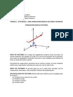 Unidad 2 - Actividad 6 - Foro Operaciones Básicas Vectores y Matrices