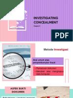 Chapter 8 investigating Concealment albrecht