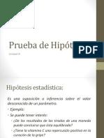 Prueba de Hipotesis de Una Poblacion
